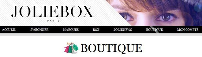 eshop boutique JolieBox