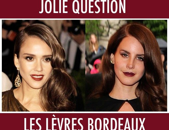 Les lèvres bordeaux, on ose ?