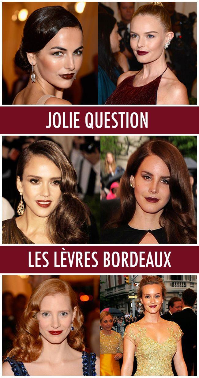 Les-lèvres-bordeaux _ Met ball 2012_ tendance_maquillage