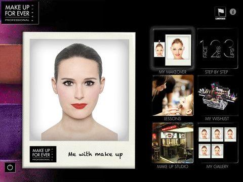 «My studio» l'application par Make Up For Ever
