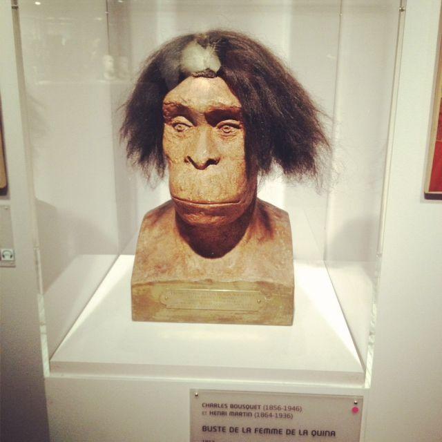 buste de la femme de la Quina expo cheveux chéris