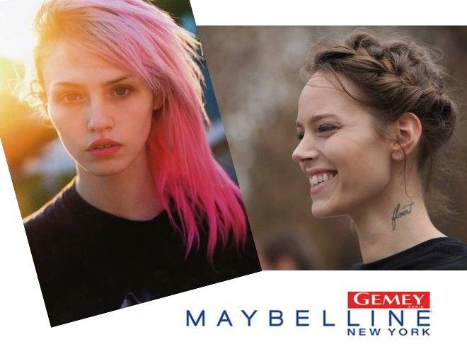 Freja Beha et Charlotte Free, égéries Gemey Maybelline