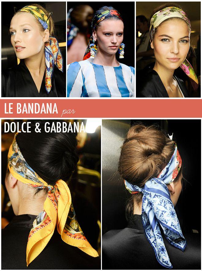 bandana coiffure look Dolce & Gabbana ss2013
