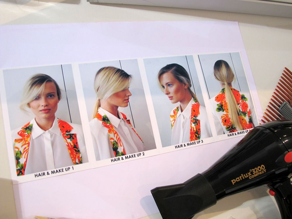 look & hair Gemey Maybelline Paul & Joe ss 2013