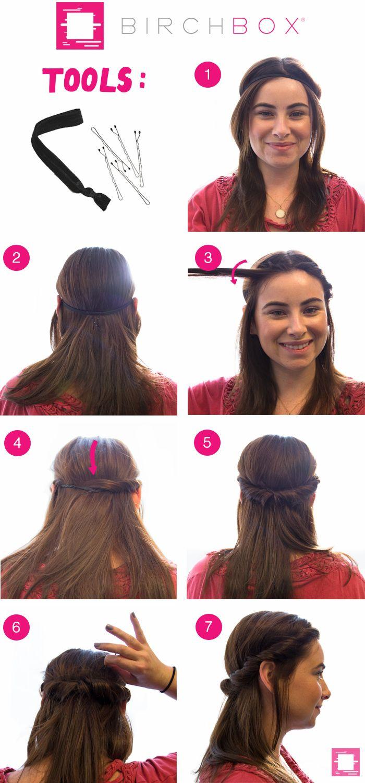Birchbox Headband coiffure chignon romantique