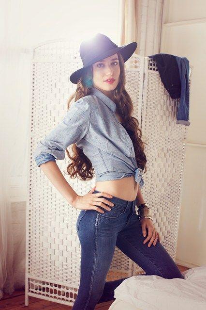 lizzie Jagger Wrangler Denim Spa Jeans