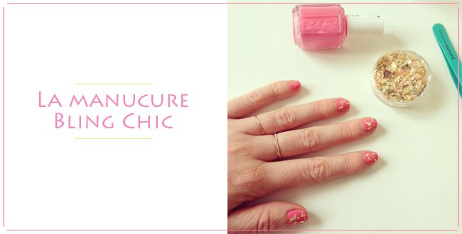 manucure bling chic