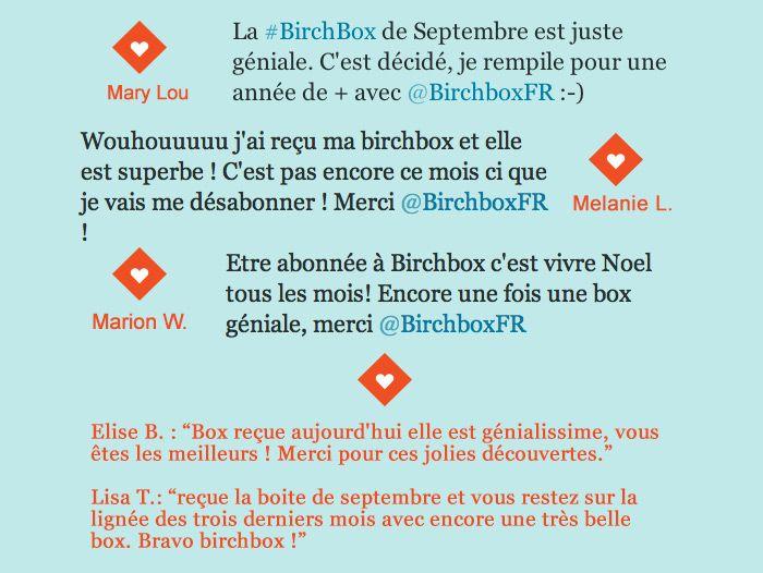 Birchbox Septembre 2013 2