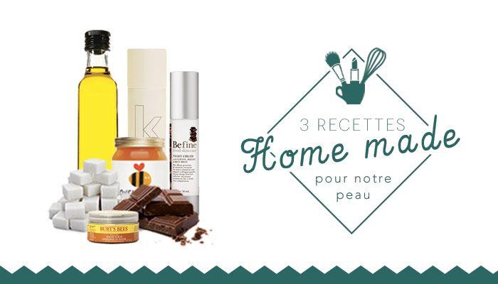 3 recettes beauté home made