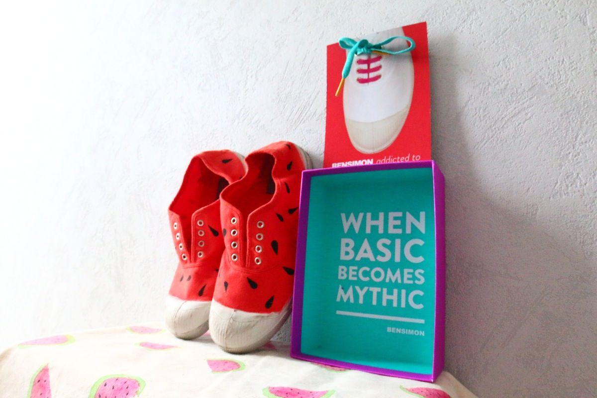 diy-chaussure-pasteque
