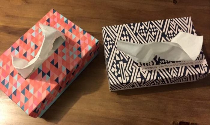 Boîte à mouchoirs Birchbox